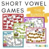 Short Vowel Phonics Games BUNDLE
