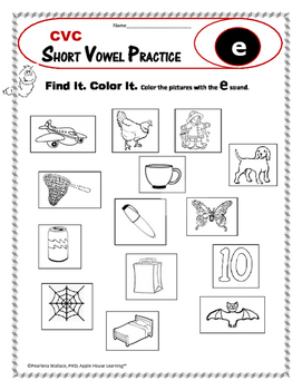 short vowel practice short e cvc word activities foundational skills. Black Bedroom Furniture Sets. Home Design Ideas