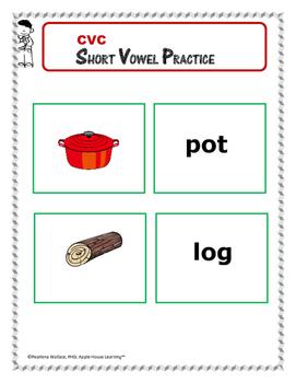 Phonological Awareness - Short Vowel 'O' – CVC Word Activities