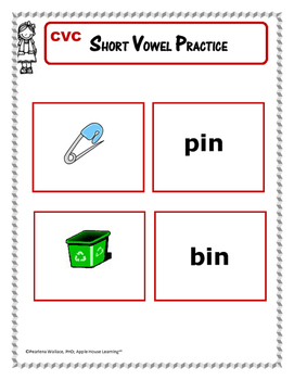 Short Vowel Practice - Short 'i' – CVC Word Activities