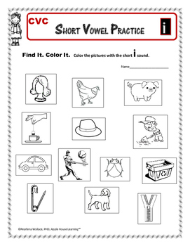 Short Vowel Practice - Short 'i' – CVC Word Activities