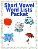 Short Vowel Practice Packet