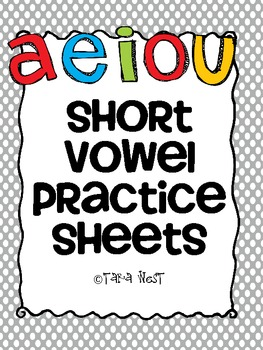 Short Vowel Practice Sheets