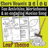 Fall Leaves Short Vowel Mini Lesson - a e i o u