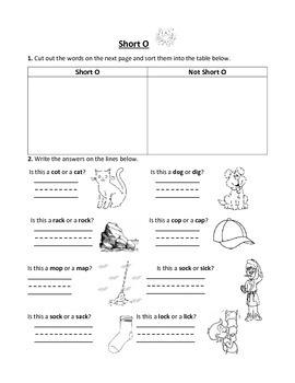 Short Vowel Practice Worksheets