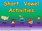 Short Vowel Practice- a e i o u- Kindergarten 1st Grade