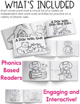 Short Vowels - Reading & Phonics Activities and Games