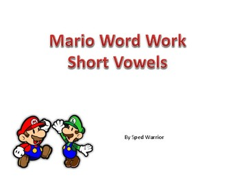 Short Vowel Practice video game theme