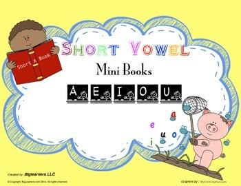 Short Vowel Printable Books For Early Readers - a, e, i, o, u