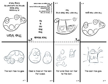 Short Vowel Printable Poof Books - Set of 5 Different Stories