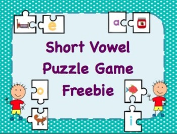Short Vowel Puzzle Game Freebie