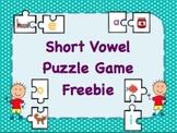 Short Vowel Puzzle Game Freebie