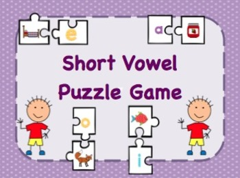 Short Vowel Puzzle Game / Memory Game