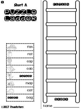 Puzzle Ladders: Short Vowels