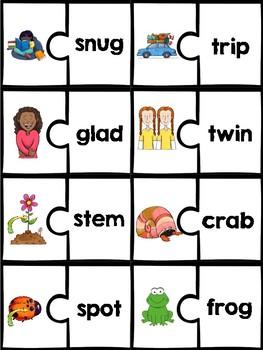 Short Vowel Puzzles: CVCC and CCVC words