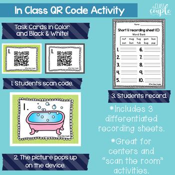 Short Vowel QR Code Task Card Bundle