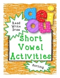Short Vowel Read Write Draw and Sort