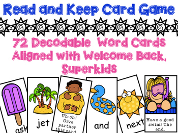 Short Vowel Read and Keep Card Game aligned with Superkids
