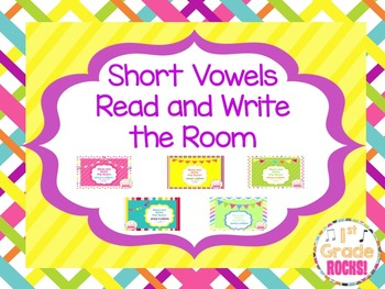 Short Vowel Read and Write the Room Bundle
