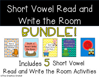 Short Vowel Read and Write the Room Activity / Word Sort Bundle