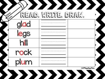 {Read. Write. Draw.} /short vowel edition/