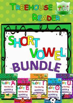 Short Vowel Reader & Worksheets & Flashcards: The BUNDLE