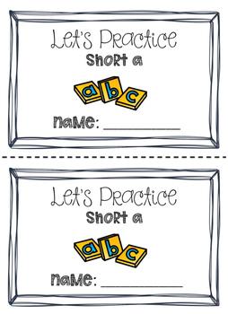 Short Vowel Readers BUNDLE!