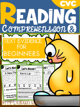Short Vowel Readers: Reading Comprehension and Text Evidence for Beginners