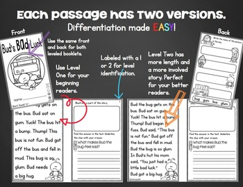 Short Vowel Reading Passages - Fluency and Comprehension