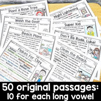 Long Vowel Reading Passages: PERSONALIZED Comprehension Bundle