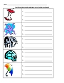 Short Vowel Recording Sheet to be Used with Picture Cards
