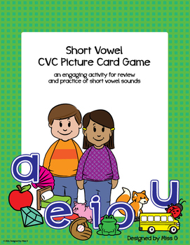 Short Vowel Review - CVC Picture Cards & Activity Ideas