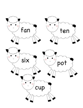 Short Vowel Review - Farm Animals Sort