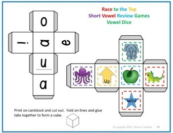 Short Vowel Phonics Review Game