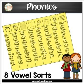 Pocket Chart Sorts: Fall Short Vowels