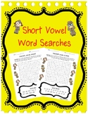 Short Vowel Review: Word Searches