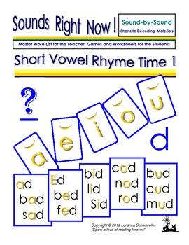 Short Vowel Rhyme Time 1
