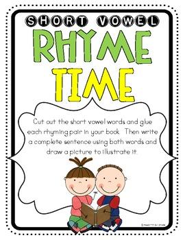 Short Vowel Rhyme Time Book