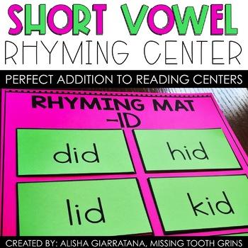 Short Vowel Rhyming Center
