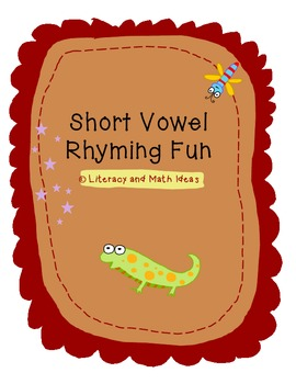 Short Vowel Rhyming Fun Sorts