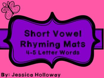 Short Vowel Rhyming Mats