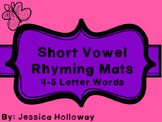 Short Vowel Rhyming Mats