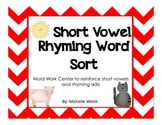 CVC Rhyming Word Sort