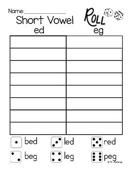 Short Vowel Practice CVC Words and Word Families