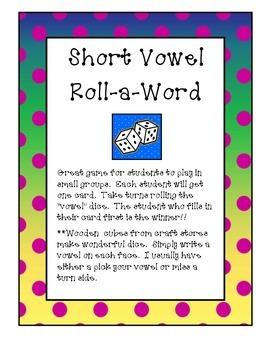 Short Vowel  Roll-a-Word