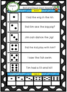 Short Vowel Roll and Read!
