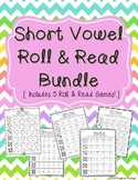 Short Vowel Roll and Read Games - Great for Word Work or L