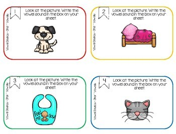 Short Vowel Scoot Phonics Activity Kindergarten First