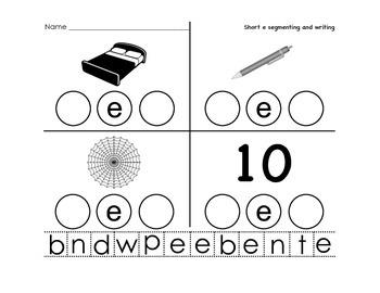 Short Vowel Segmenting-Writing