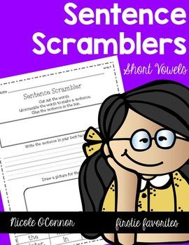 Short Vowel Sentence Scramblers Mega Pack